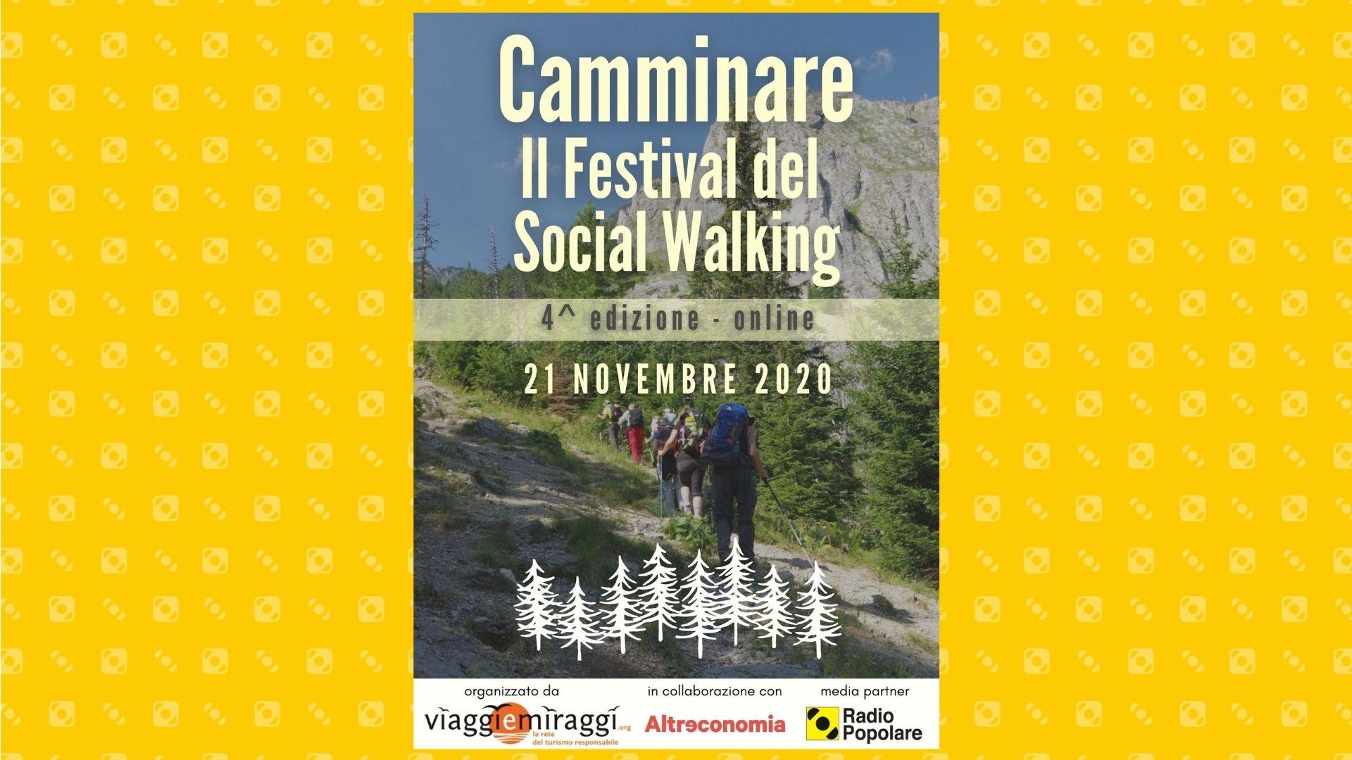 Camminare, il Festival del Social Walking edizione 2020