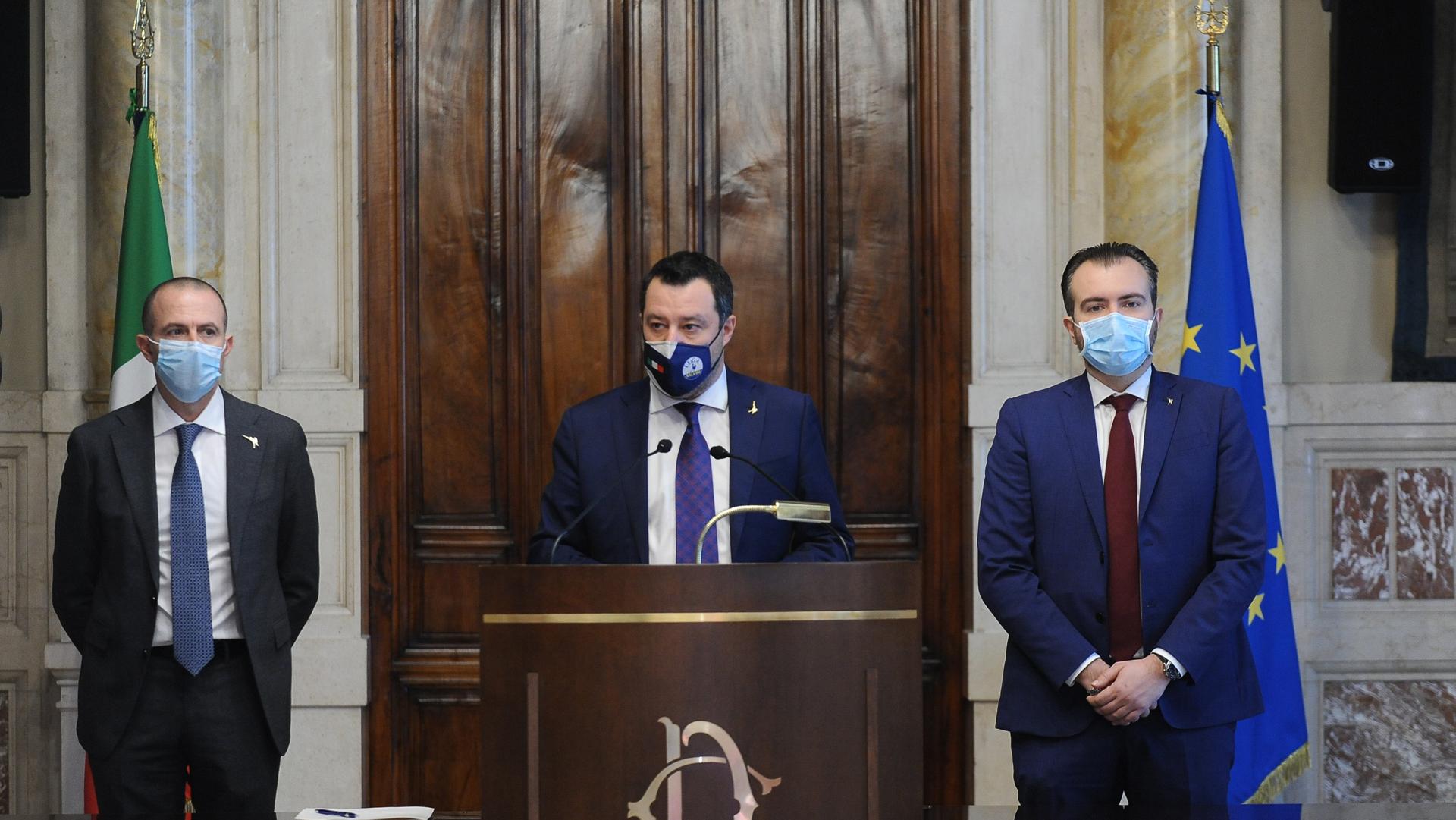 Draghi Consultazioni Lega Salvini