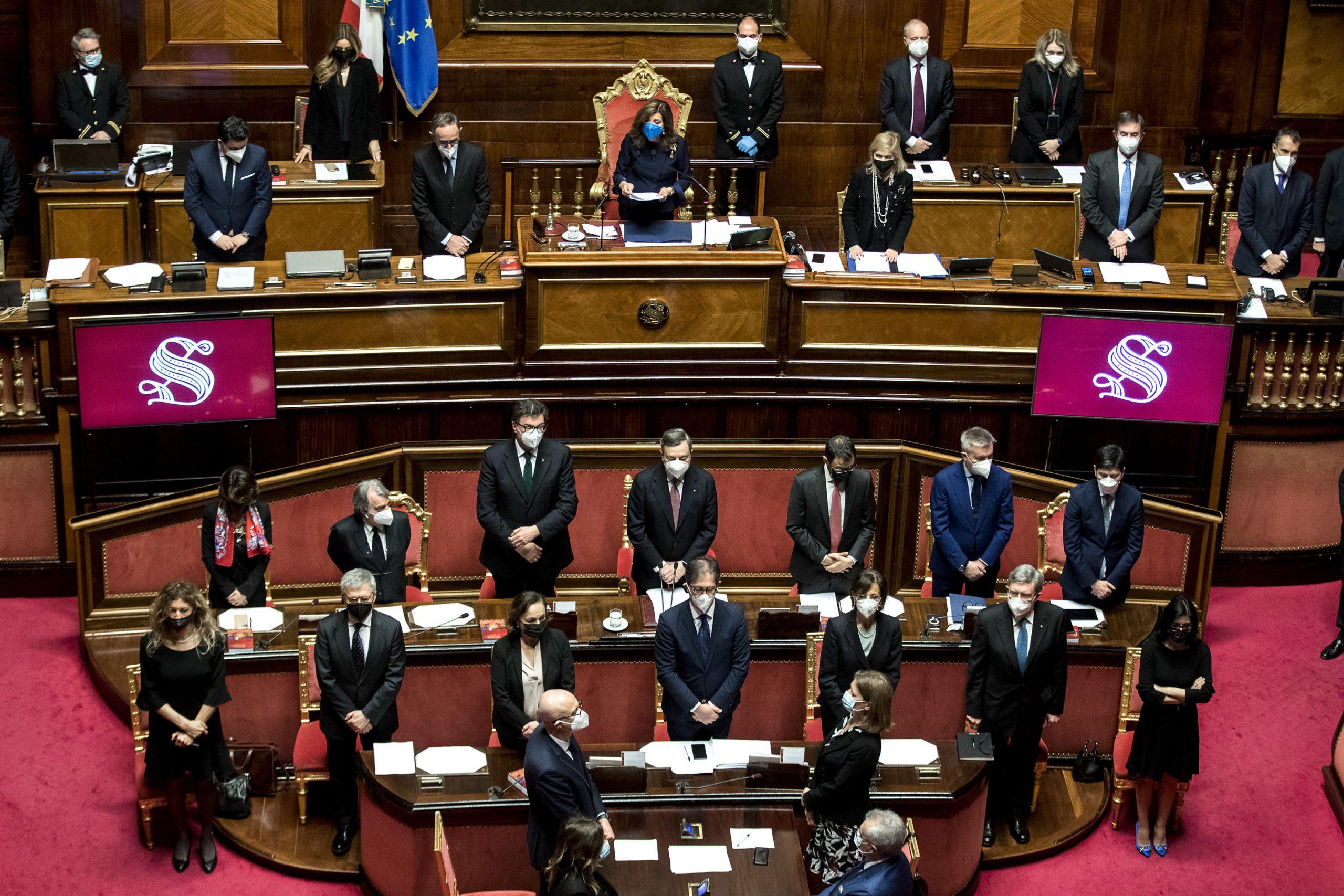 discorso di draghi al senato