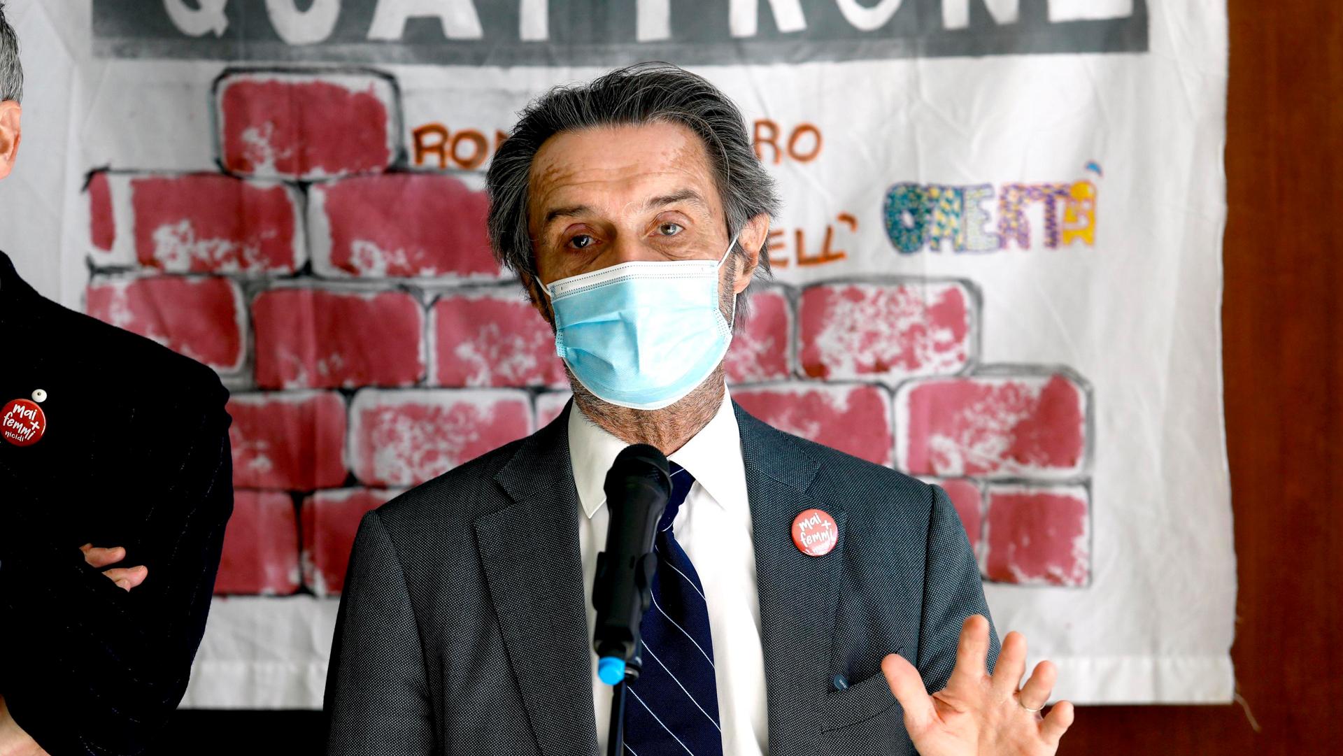 Vaccini Lombardia - Attilio Fontana ANSA