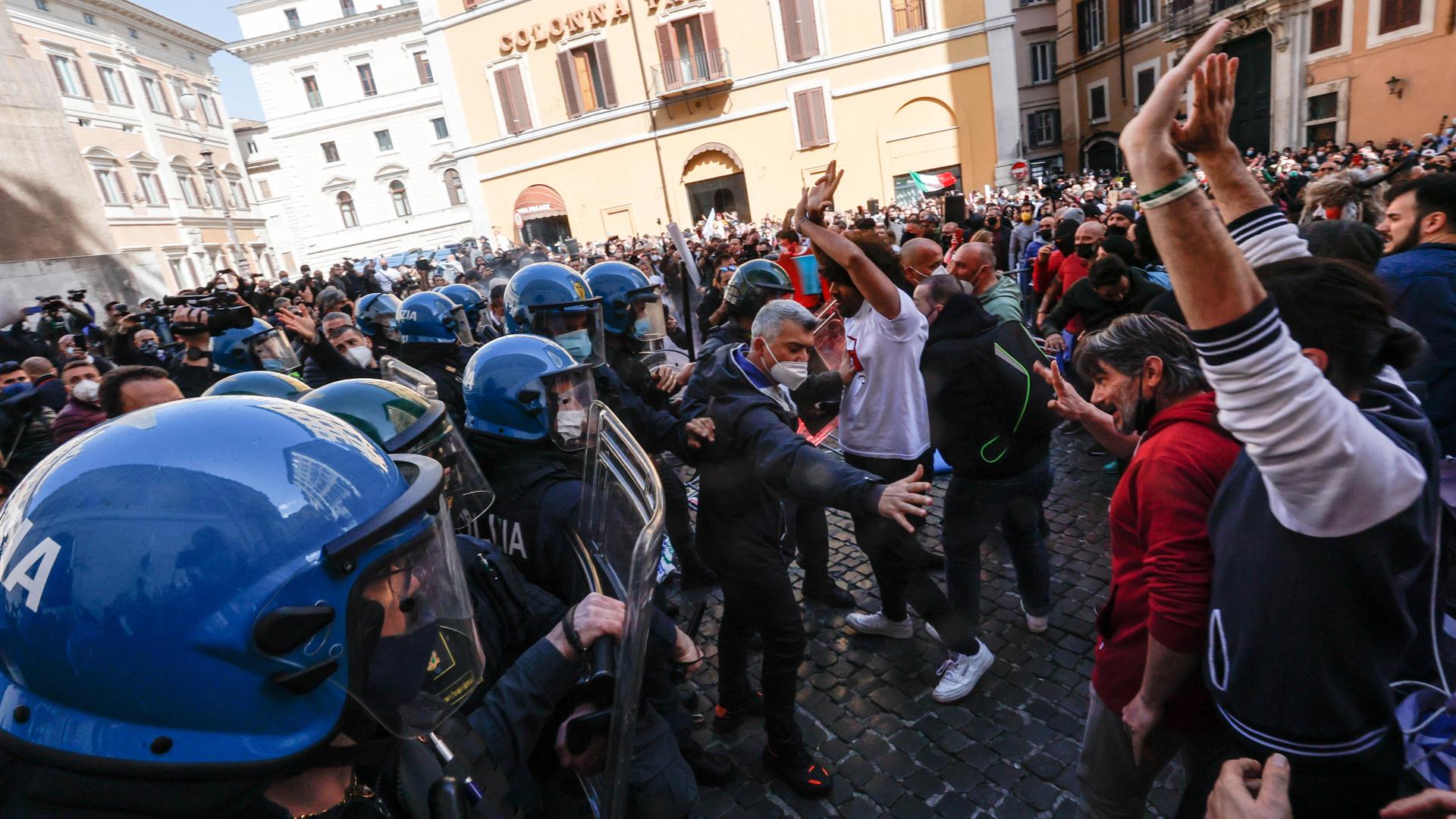 manifestazioni roma ANSA