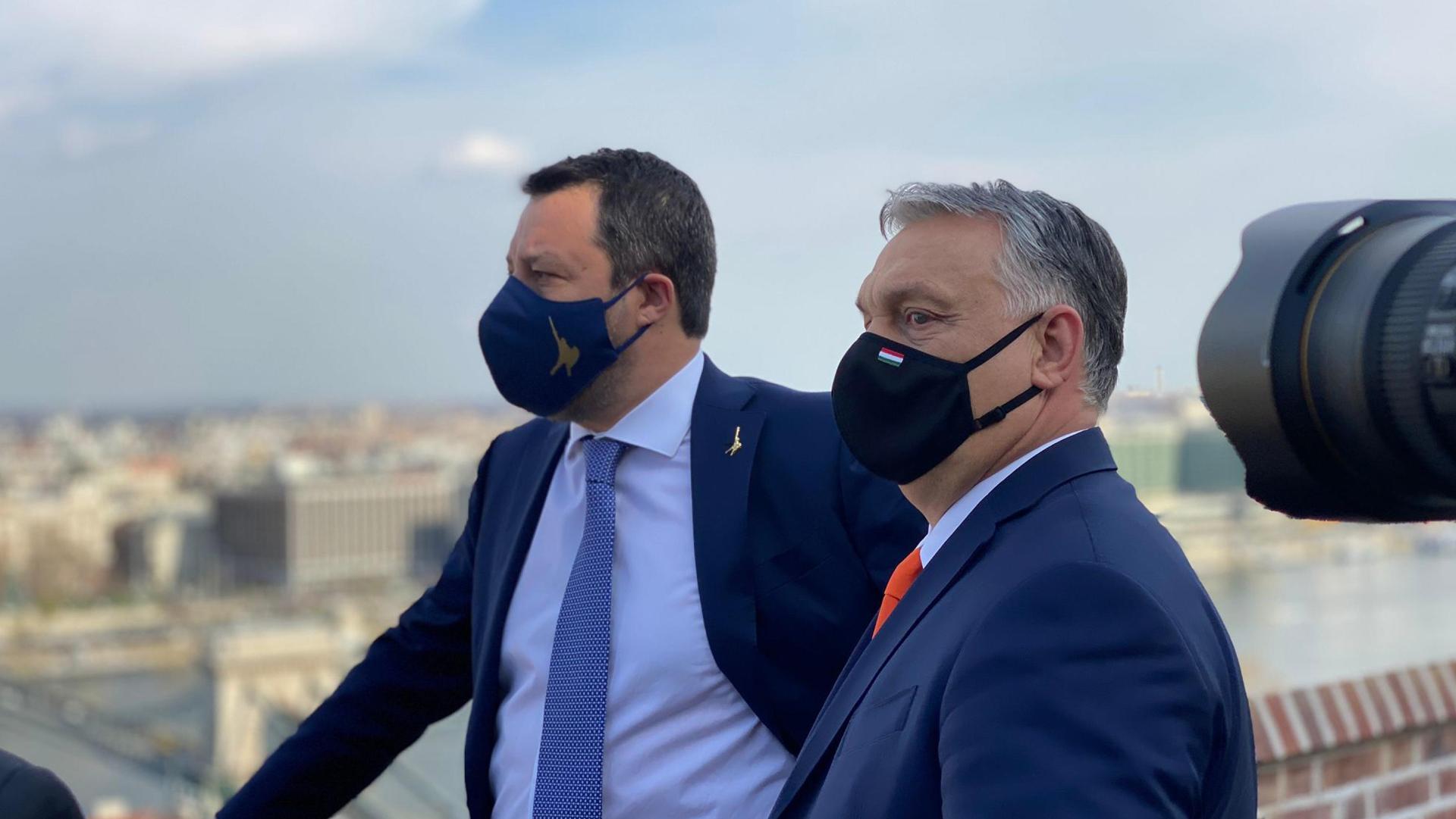 Salvini Orban ANSA