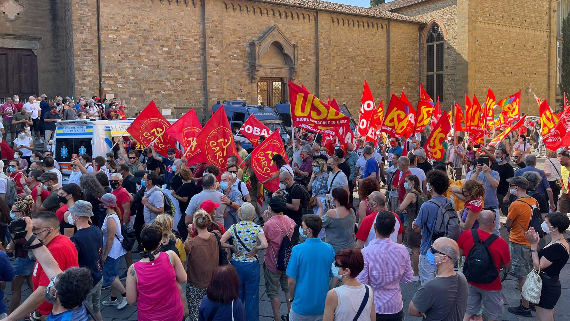 mobilitazione Firenze ANSA