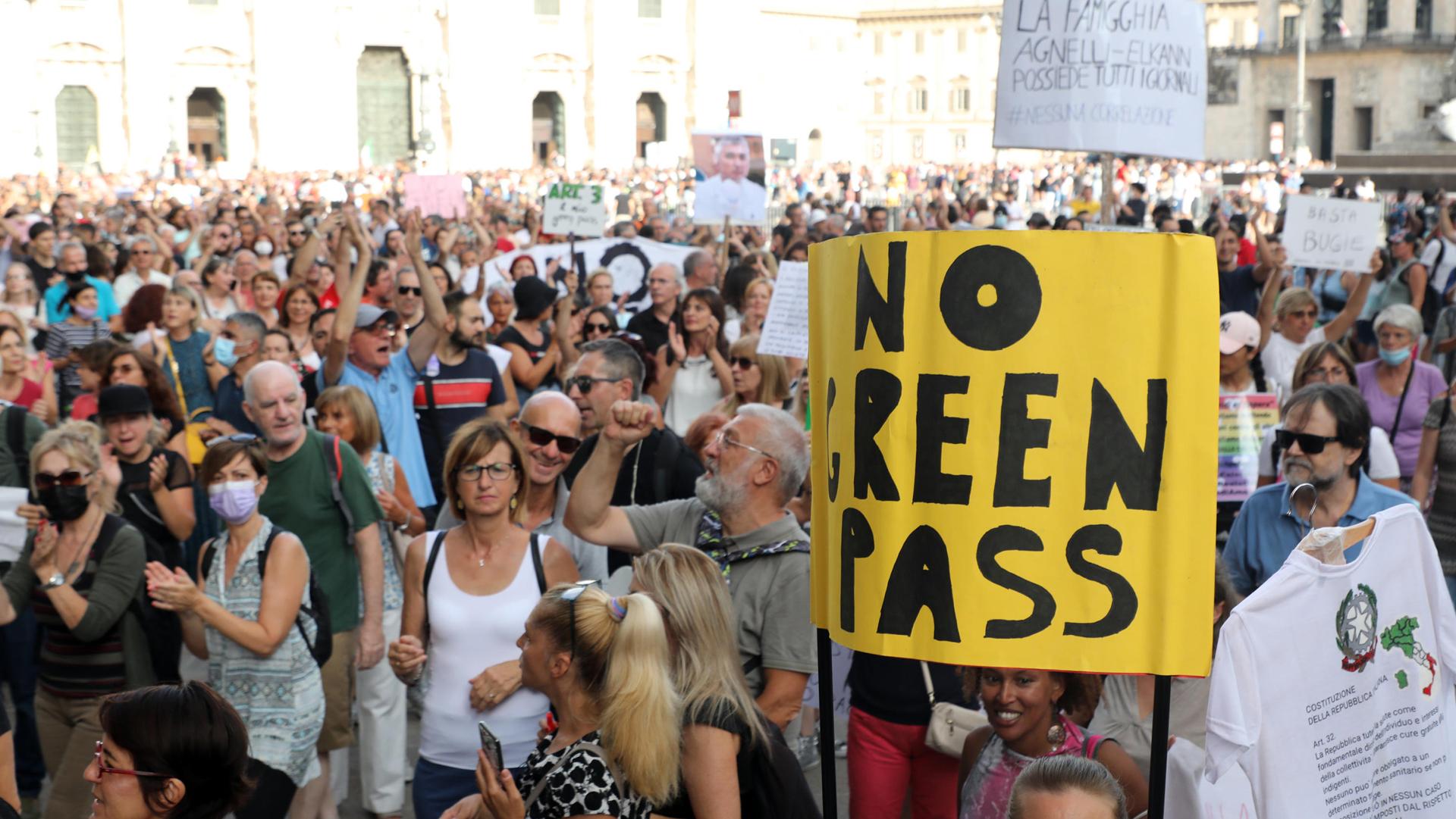 proteste green pass ANSA