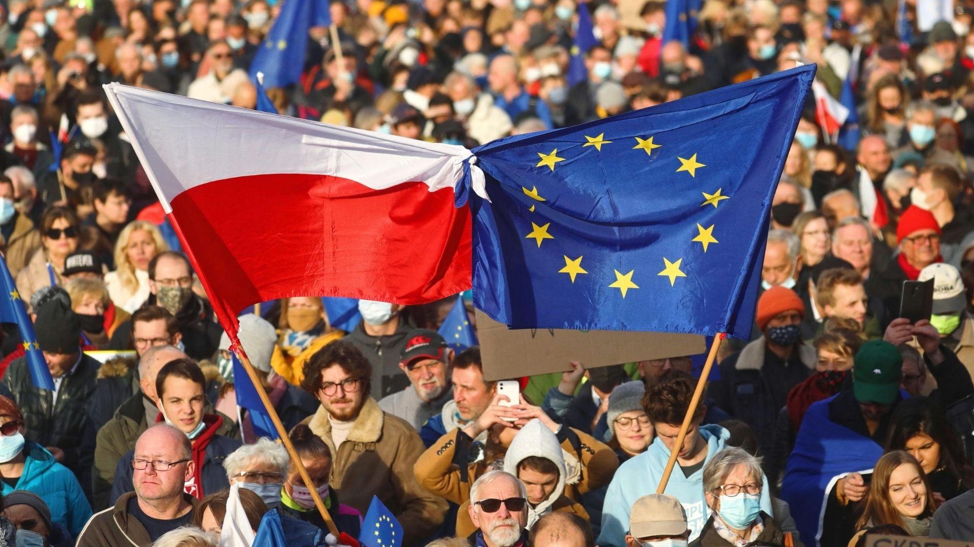 proteste pro ue polonia (ANSA)