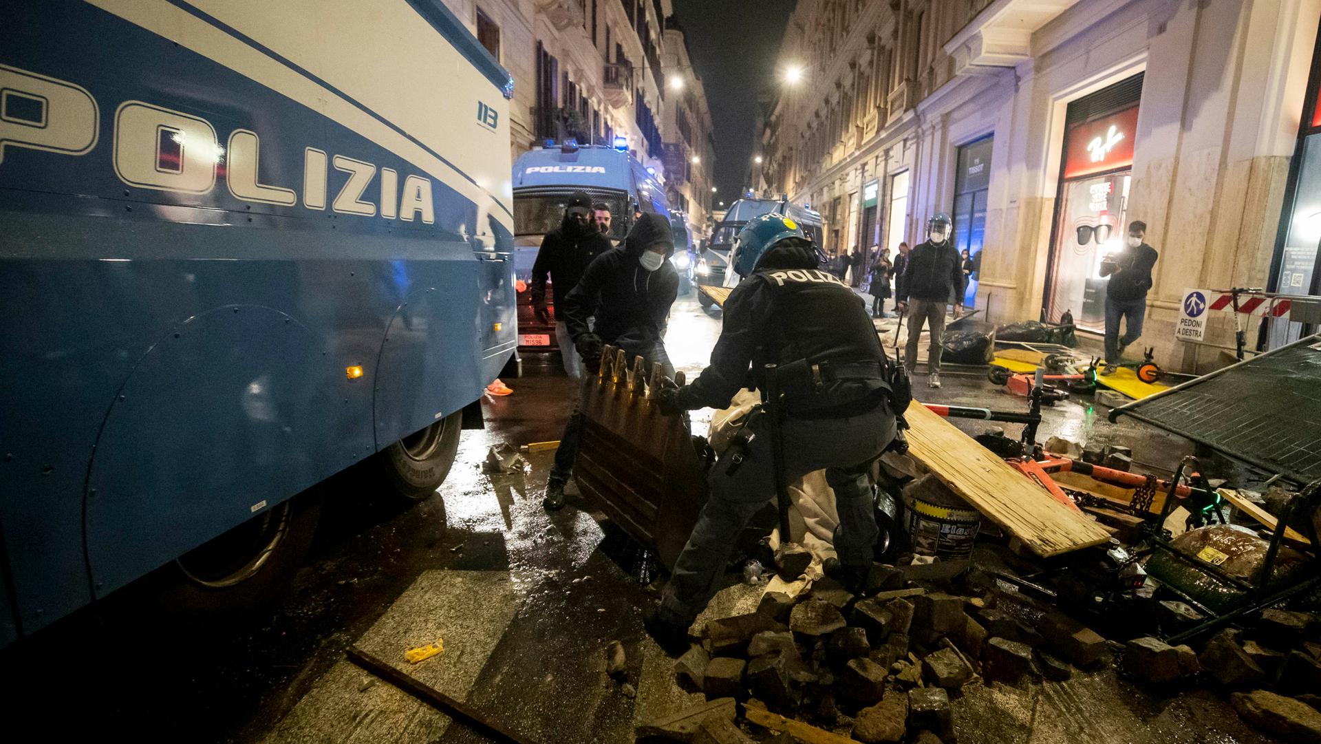 assalto roma forza nuova ANSA